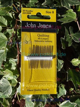John James Quilting Needles - Size 8