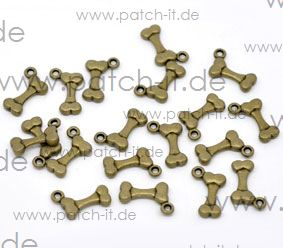 "Charms ""Knochen"" altmessing"