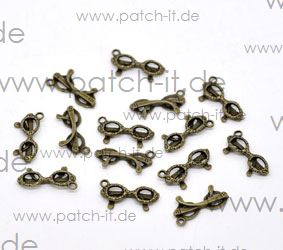 "Charms ""Brille"" altmessing"