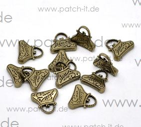 "Charms ""Handtasche"" altmessing"