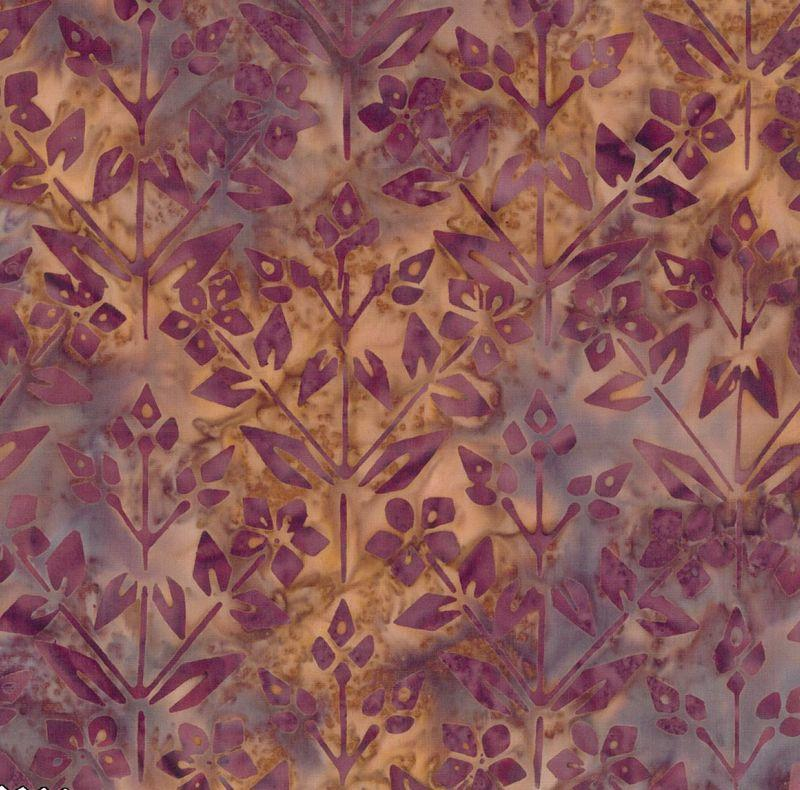 Bella Batiks - Flower Diamonds - brown