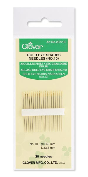 Gold Eye Sharps Needles Nr. 10
