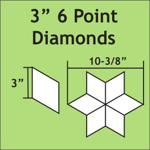 3 inch 6-Point Diamond