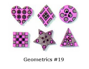 Geometric Buttons - pink-brown
