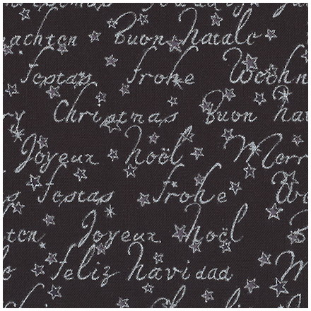Nordic Christmas - Christmas Lyrics black with silver