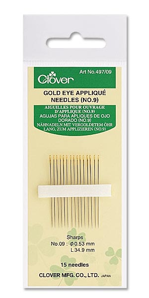 Gold Eye Applique Needles Nr. 9