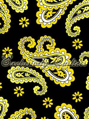 Mellow Yellow - Paisley - black/yellow