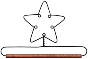 Star - Dowel Fabric Holder