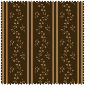 Floral Allure - Stripes - brown