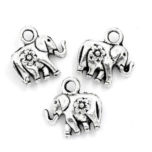 "Charms ""Elefant"" - silberfarbend"