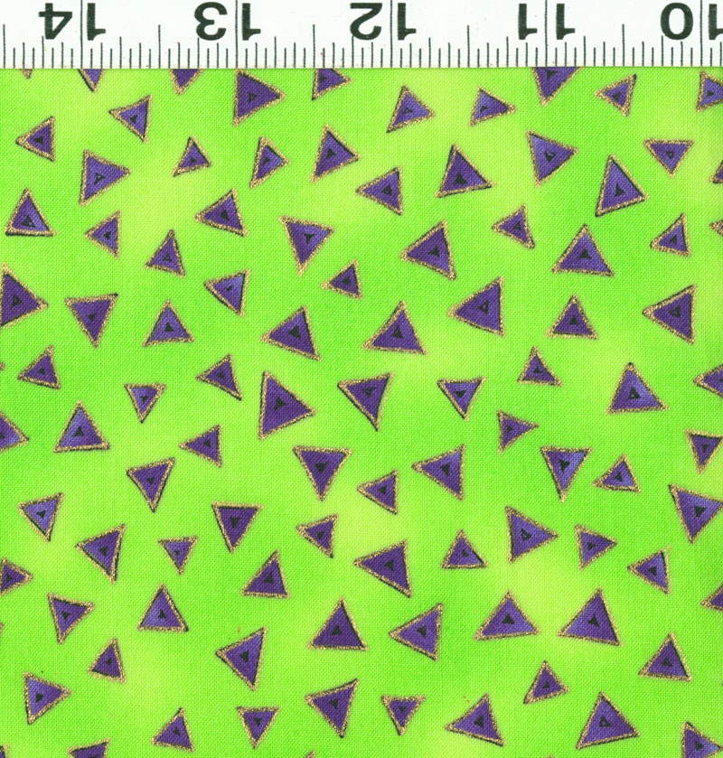 Laurel Burch Basics - Triangle - green-lilac