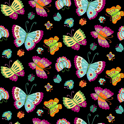 Spring Awakens - Butterflies - black
