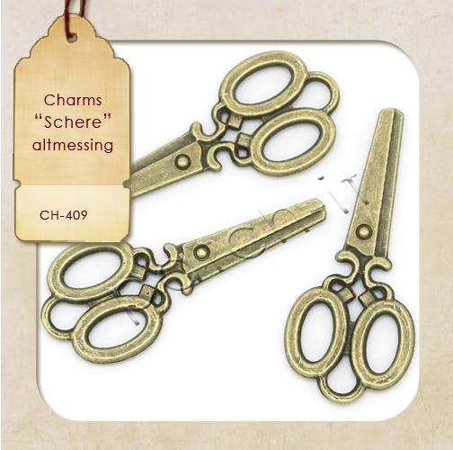 "Charms ""Schere"" altmessing"