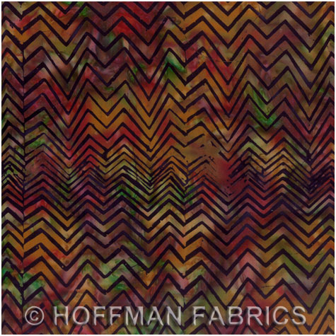 Hoffman Bali Handpaints - Chevron - red-green