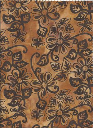 Brasilia Collection - Island Batik - Flower - brown
