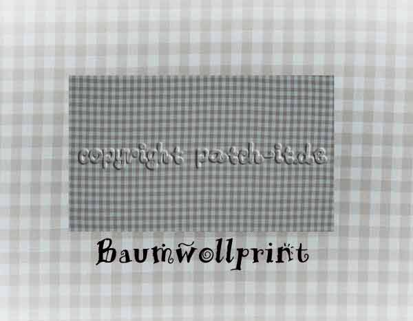 Baumwolldruck kariert - light blue
