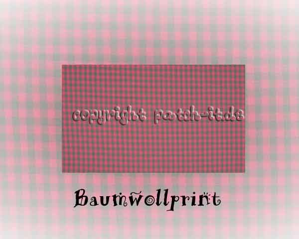 Baumwolldruck kariert - light rose