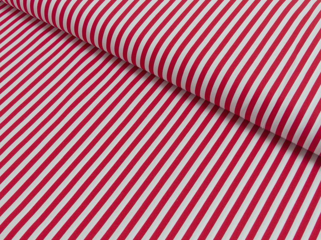 Stripes 5mm - red-white