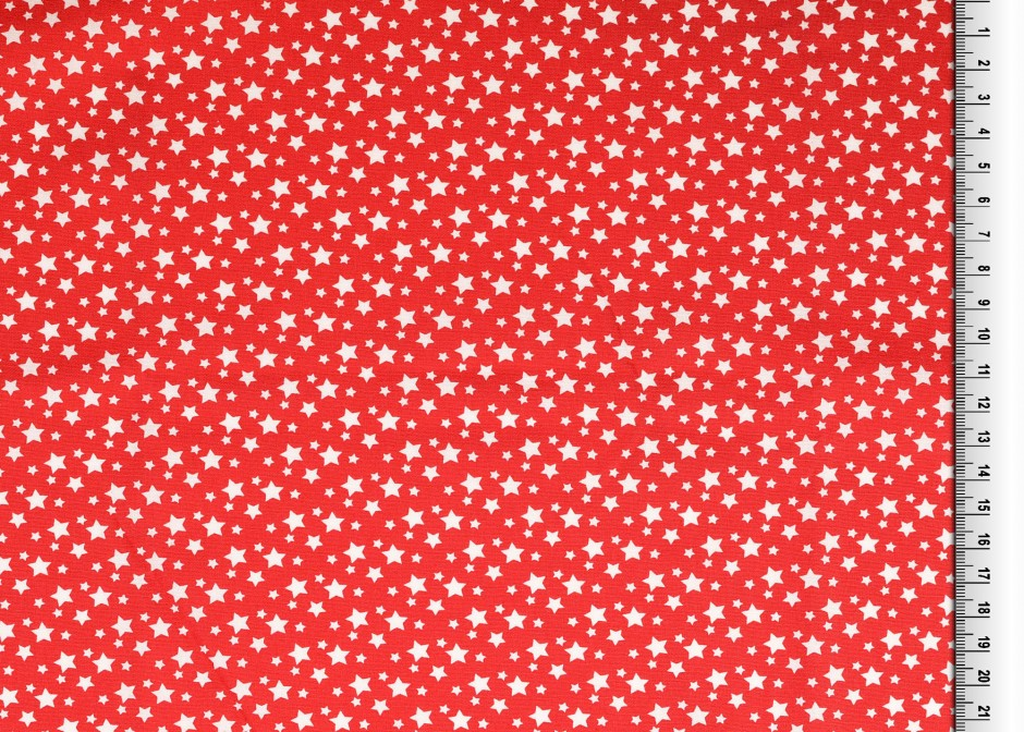 Stars small and bigger - red