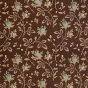 Samantha - Tiny Floral Stems - brown