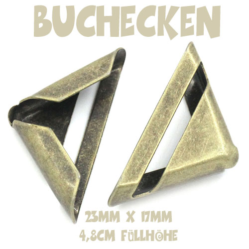 Buchecken - Metallecken - altmessing