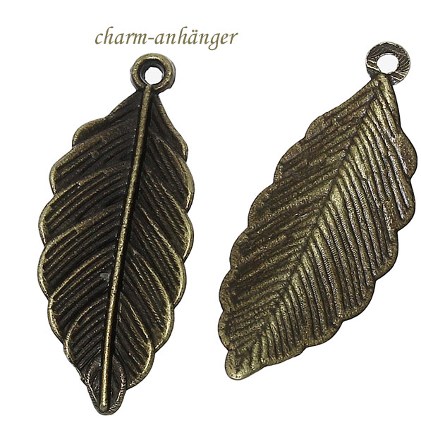 "Charms ""Blatt"" altmessing"