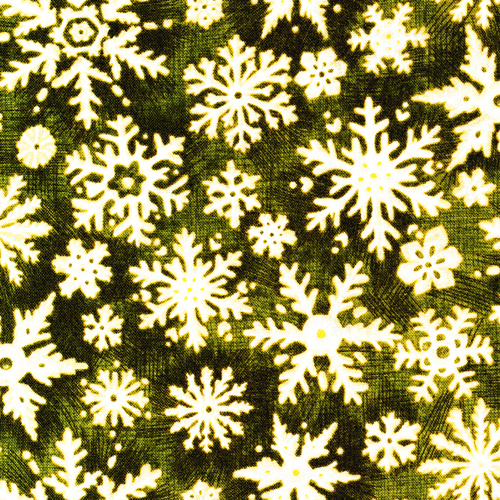 Christmas in the Woods - Snowflakes - green