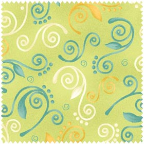 Blushing - Swirls - green