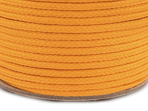 Kordel geflochten 4mm - orange