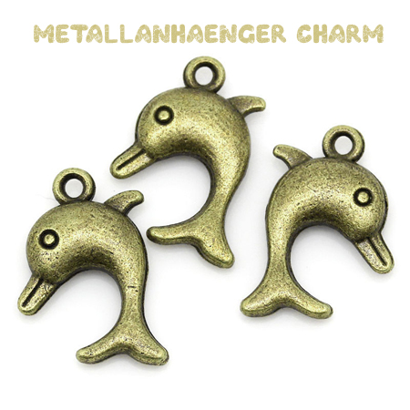 "Charms ""Delfin"" altmessing"