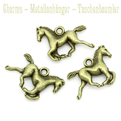 "Charms ""Pferd"" altmessing"