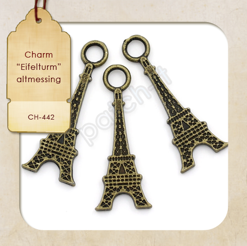 "Charms ""Eifelturm"" altmessing"