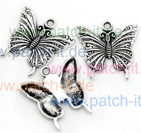 "Charms "" Schmetterling"" silberfarbend"