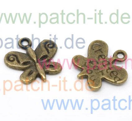"Charms ""Created for You - Butterfly"" altmessing"