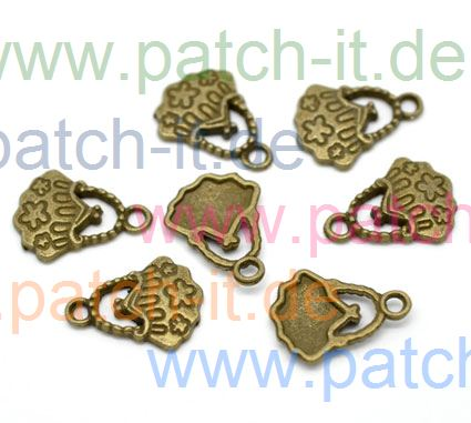 "Charms "" Handtasche"" altmessing"