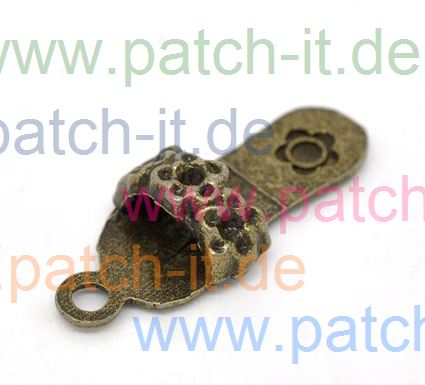 "Charms "" Pantoffel"" altmessing"