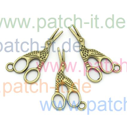 "Charms ""Storchenschere"" altmessing"