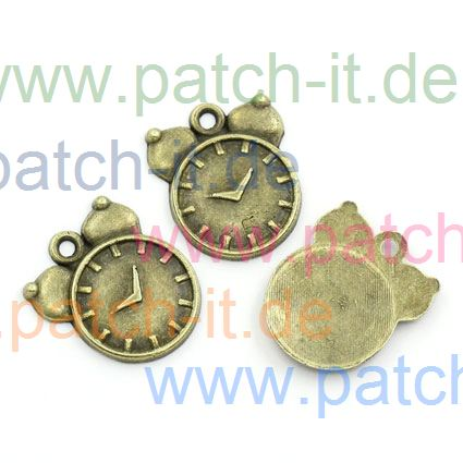 "Charms "" Wecker"" altmessing"