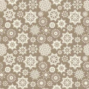 Scandi Christmas - Snowflakes - hessian
