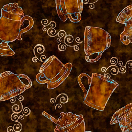 Cafe all Day - Tossed Coffee Cups - brown
