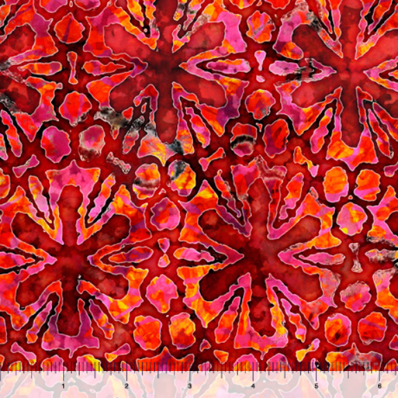 Tropicalia - Pinwheel Floral - red
