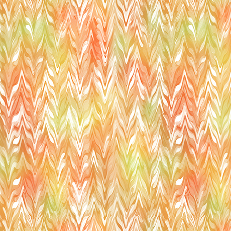 Belle - Watercolor Chevron - orange/sunlight