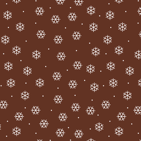 North Woods Neighbors - Snowflakes - brown