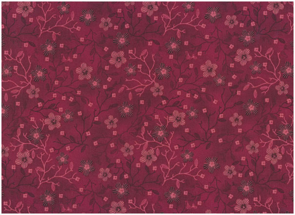 Quilters Basic Spezial - Flowers - warmred