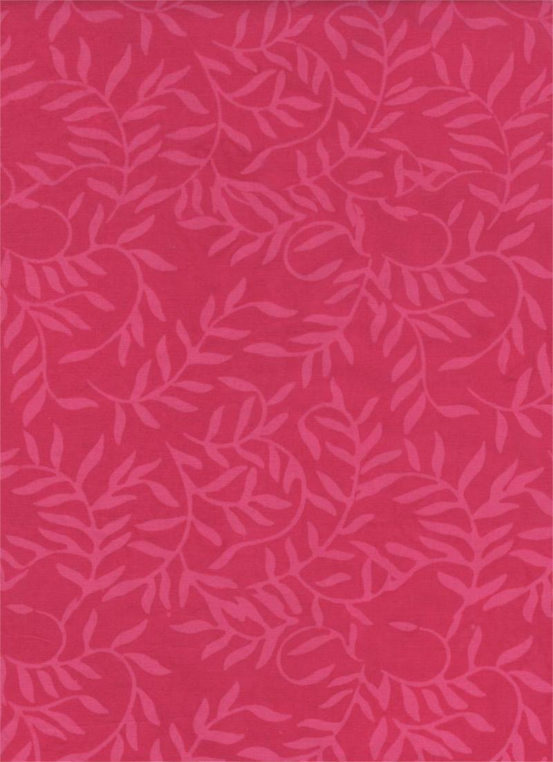 Brasilia Collection - Island Batik - Leaves - pink
