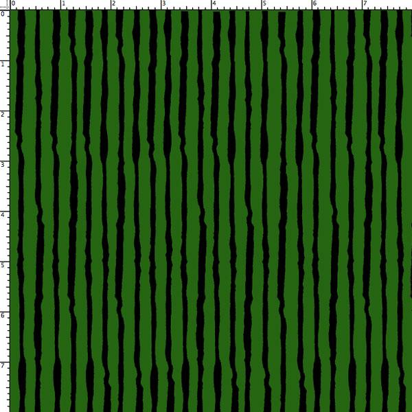 Doggie Holiday by Loralie Design - Sorta Stripe - green-black