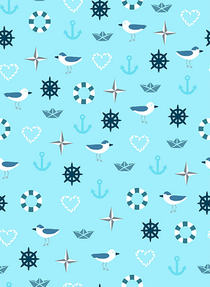 Season Living - Sea Motifs - blue
