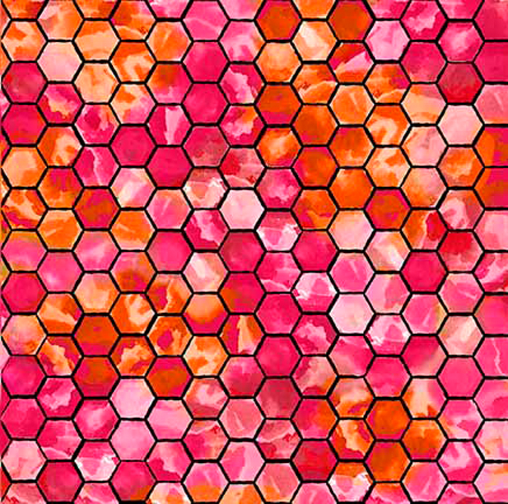 Ellery - Hexagons - pink-red