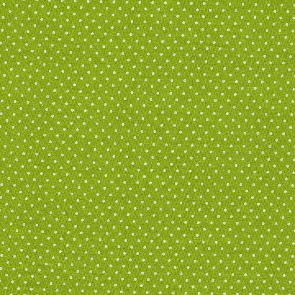 Dots 2mm - kiwi-white