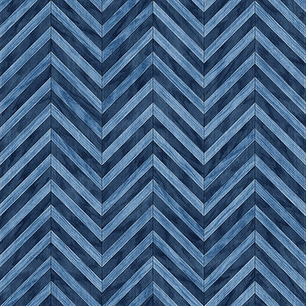 Craftsman - Chevron - denim
